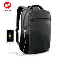 "Tigernu USB Charging 14"" Ordinateur portable Business Backpack Sac d'école"