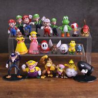Super Mario Bros Mario Yoshi Luigi set of 22 Action Figure Toy Collection 3-8cm