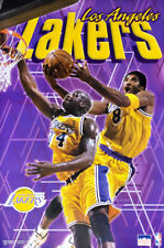 Kobe Bryant and Shaquille ONeal SHOWTIME LA Lakers Vintage 1999 Starline POSTER