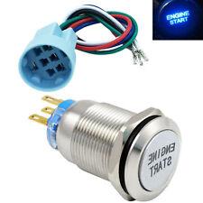 Socket Engine Start Button Push Switch Ignition Car Automotive LED Metal USA