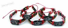 5Hamsa hand Leather Bracelet REGGAE RASTA Cuff Bangle Wristband Punk holy Tribal
