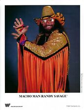 Macho Man Randy Savage   unsigned WWF Promo  w/COA  ***BONUS***