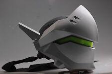 Genji helmet  OW cyborg Genji Overwatch cosplay helmet LED Luminous version