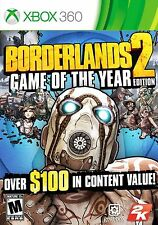 Borderlands 2 -- Game of the Year Edition (Microsoft Xbox 360, 2013)  Complete