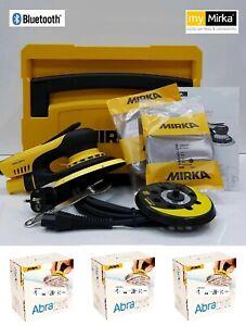 Mirka Action Deros Ponceuse 125/150 MM + Boîtier + 3 x 50 Abranet Disques