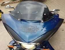 """AJ_Baggers NEW Aero Dark Tinted Windshield 12"""" for Victory Cross Country"""