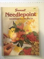 Needlepoint Techniques and Projects Illustrated 1977 Sunset Books Vintage