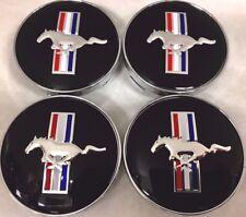 4Pcs, Wheel Center Hub Cap, Mustang Horse Black, 60 MM, 5R3Z-1130-BA