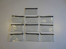 10 CLEAR VINYL ZIPPER WALLETS BANK BAG MONEY JEWELRY POUCH COIN CURRENCY COUPONS