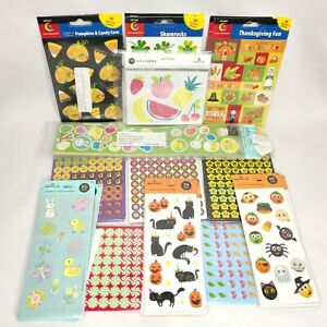 Huge Assorted Teacher Sticker Lot 43 Pkgs Assorted Incentive Chart Holidays