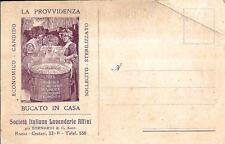 pb 19 - Anni 20 - LA PROVVIDENZA Pubblicità Società Lavanderie e Affini NVG FP