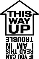 THIS WAY UP FUNNY STICKER Funny Car Window Bumper JDM VW Vinyl Sponsor Decal
