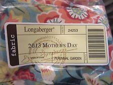 Longaberger 2013 Mothers Day Basket Perenial Garden Fabric Liner