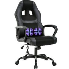 PC Gaming Chair Massage Multi Place Ergonomic Desk Chair Adjustable PU Leather