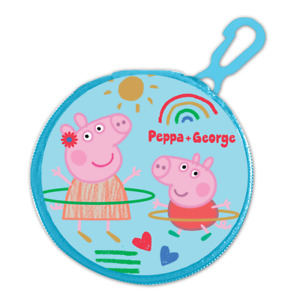 CHILDRENS CHARACTER ROUND ZIPPED COIN PURSE WITH KEY CLIP LICENSED BOYS GIRLS
