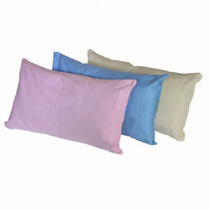 Greenbuds Organic Cotton Kids Pillow Cover- Pink, Blue or Ivory - NEW