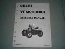 YAMAHA YFM200DXS SUPPLEMENTARY ASSEMBLY MANUAL YFM200 YFM 200 Shop Quad moto 4