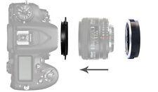 62mm Macro Reverse Adattatore per Nikon F Mount Lens Al + Anello Di Filtro Di Protezione UK