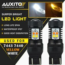 AUXITO 2X 7443 7444NA Switchback White/Amber 3030smd LED Turn Signal Light Bulbs