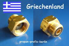 Propangas Adapter für GRIECHENLAND /Gasadapter (für Druckminderer,Druckregler)