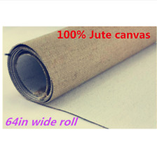 Blank Painting Canvas Long 658g Jute Linen Roll 1.7m Wide Primed Artist Quality
