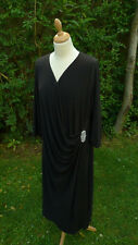b5a30e13099 Joanne Hope black 3 4 sleeved wrap over neck long dress size 32 (C20