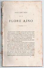 DE CHARENCEY RECHERCHES SUR LA FLORE AINO 1873 BOTANIQUE JAPON ASIE AINOUS