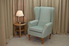 A Highback Fireside Armchair in a Kenton Hopsack Duck Egg - 13742- Fabric