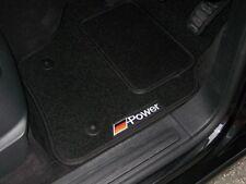 Car Mats In Black/Black - Mercedes-Benz CLA-Class (2014 on) + German Power Logos