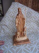 Jesus Good Shepard figurine olive wood handmade and blessed in Bethlehem