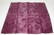 "(4) Interior Accents Napkins ~ Eggplant Jacquard ~ 17"" x 17"" Square NEW"