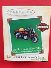 HALLMARK 2004 MINIATURE HARLEY DAVIDSON MOTORCYCLE 1933 FLATHEAD # 6 IN SERIES
