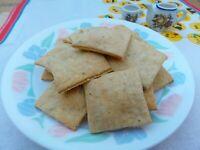 Whole Wheat Sourdough Crackers (5 oz)with Homemade Sourdough Starter