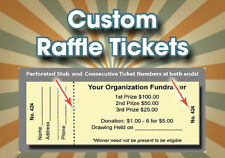 1000 Custom Raffle Tickets - Numbered & Perforated