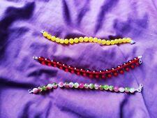 Handmade Jade & Cherry Amber Style Bracelet Bundle