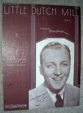 1934 LITTLE DUTCH MILL Vintage Sheet Music BING CROSBY by Barris, Freed