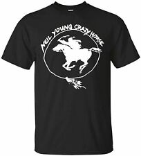 Neil Young Crazy Horse Custom Mens T-Shirt Funny Vintage Gift Men Women
