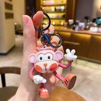 Yoga Monkey Keychain Cute Cartoon Animal Car Key Chain Children Bag Pendant Gift