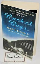 Rocket Boys - Homer  H. Hickam Jr. Paperback Signed! Autographed by author!