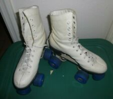 Vintage Pacer Roller Skates Womens Size 6 White Leather White Pacer Wheels & Key