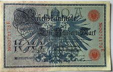 100 Einhundert Mark 1908 rot  Ro33  Deutsches Reich (37)