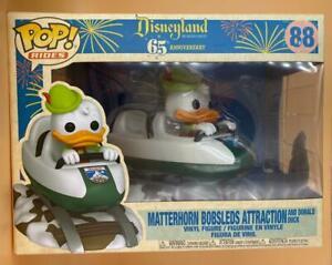 Funko POP! Rides Disneyland 65th Anniversary #88 Donald Duck Matterhorn Bobsled