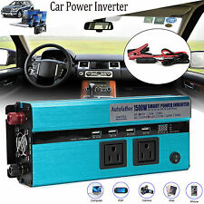 1500W/3000 WATT Car Power Inverter DC 12V To AC 110V Adapter USB Laptop Charger