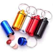 Waterproof Survival Match Pill Box Case Bottle Bait Holder Keychain Container