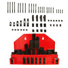 """52 PC Clamping Kit T-Slot 5/8"""" End Clamp Flange Coupling Nut Step Block Set"""