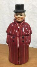 Vintage Hand Painted German Porcelain Figure Man Liquor Decanter Bottle