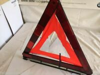 GENUINE BMW EMERGENCY SAFETY WARNING TRIANGLE E81 E87 E46 E60 1 3 5 7 SERIES ...