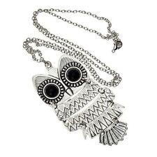 New Lady Women Vintage Silver Owl Pendant Necklace best Gift For XMAS MH