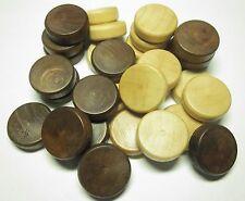 Spielsteineset für Backgammon Holz 25 X 8 Mm Zubehör