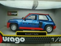 COFFRET MINIATURE RENAULT 5 TURBO 3 PORTES 1/24° BLEUE B BURAGO